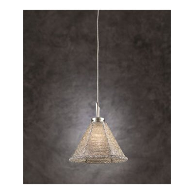 Belmondo 1-Light Mini Pendant Shade Color: Silver