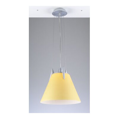 Pinnacle 1-Light Pendant Shade Color: Amber