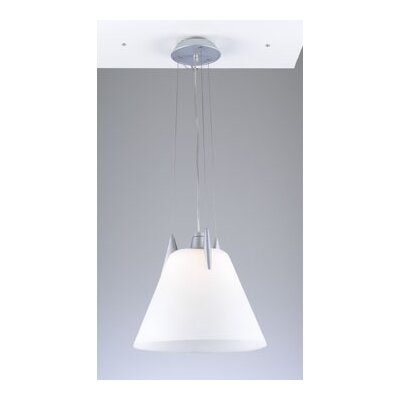 Pinnacle 1-Light Pendant Shade Color: Opal