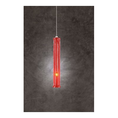 Francisco 1-Light Mini Pendant Shade Color: Red