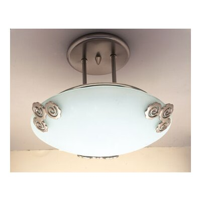 Aroma 1-Light Semi Flush Mount Finish / Size: Copper / 9 H x 12 W
