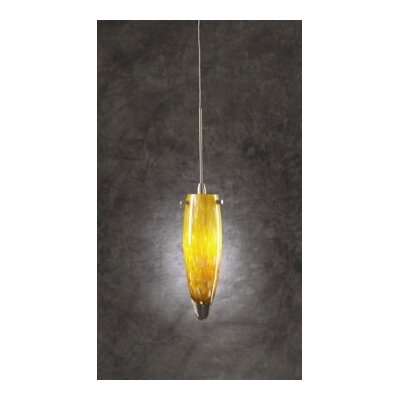 Lluvia 1-Light Mini Pendant Shade Color: Amber