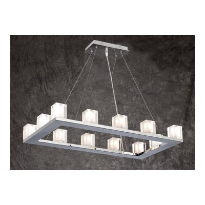 Glacier 12-Light Kitchen Island Pendant