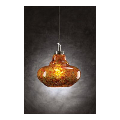 Genie 1-Light Mini Pendant Shade Color: Confetti Amber