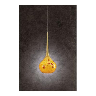 Pompeii 1-Light Mini Pendant Shade Color: Amber