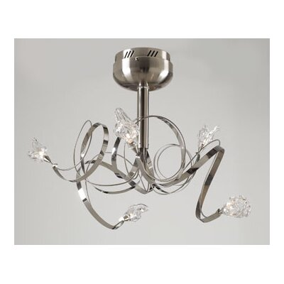 Ribbon 5-Light Semi Flush Mount