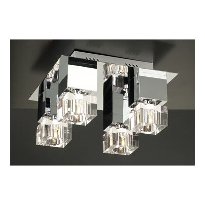 Charme 4-Light Semi Flush Mount