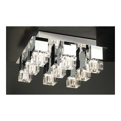 Charme 9-Light Semi Flush Mount