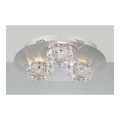 Ice Age 9-Light Semi Flush Mount