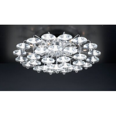 Diamente 12-Light Semi Flush Mount