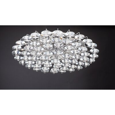 Diamente 18-Light Semi Flush Mount