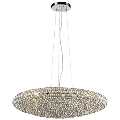 Alexa 6-Light Inverted Pendant Size: 9 H X 40 W