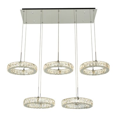 Equis 1-Light LED Cascade Pendant