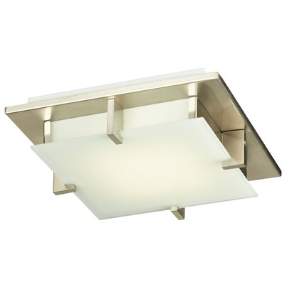 Polipo 1-Light LED Flush Mount Finish: Satin Nickel