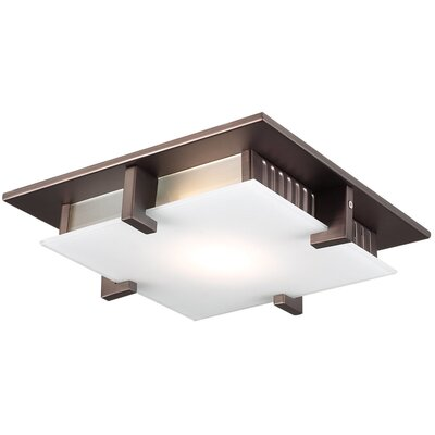Polipo 1-Light LED Flush Mount Finish: Oil Rubbed Bronze