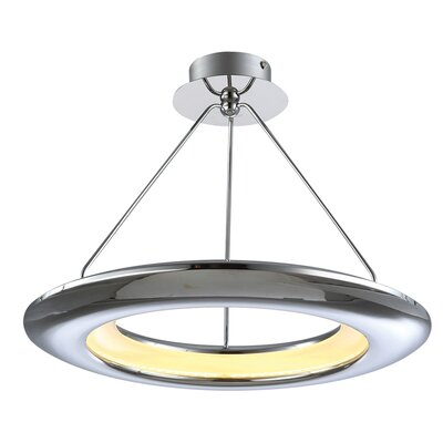 UFO 1-Light LED Geometric Pendant