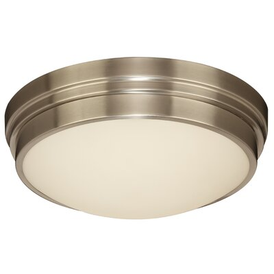 Turner 1-Light LED Flush Mount Finish: Satin Nickel