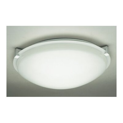 Nuova Flush Mount Finish / Shade Finish / Size / Bulb Type: White / Frost / 4.5 H x 20 W / J118mm