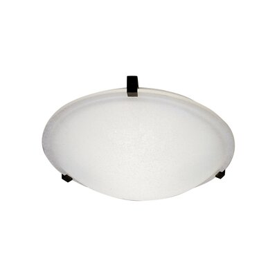 "PLC Lighting Nuova Flush Mount - Finish / Shade Color / Size / Bulb Type: Polish Chr / Marbleized / 3.5"" H x 12"" W / J118mm at Sears.com"