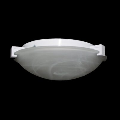 Nuova Flush Mount Finish / Shade Color / Size / Bulb Type: Rust / Marbleized / 3 H x 8 W / J118mm