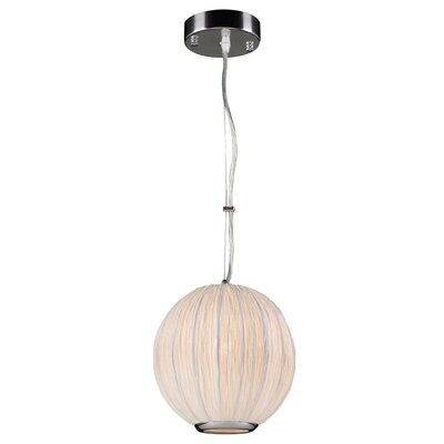 Sidney 1-Light Pendant Color: Ivory, Bulb Type: Incandescent