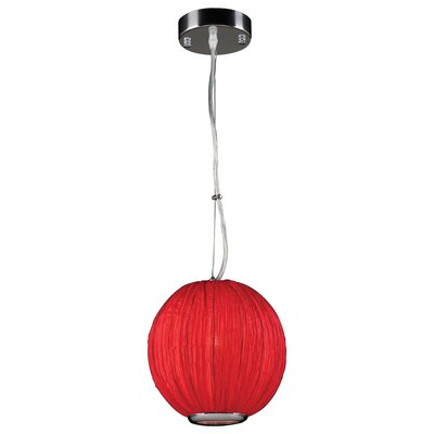 Sidney 1-Light Pendant Bulb Type: Incandescent, Color: Red