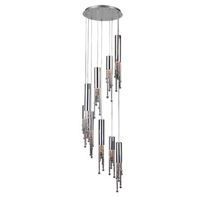 Trento 9-Light Waterfall Chandelier