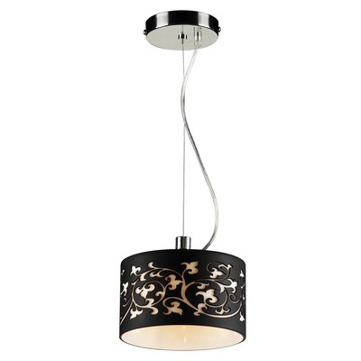 Tuxedo 1-Light Mini Pendant Color: Black