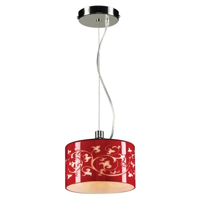 Tuxedo 1-Light Mini Pendant Color: Red