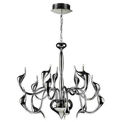 Swan 15-Light Candle-Style Chandelier