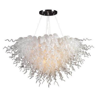 Elixir 19-Light Geometric Pendant Shade Color: Amber