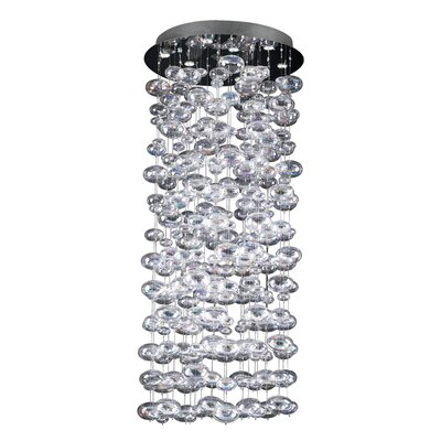 Bubbles 18-Light Cascade Pendant Size: 60 H x 30 W