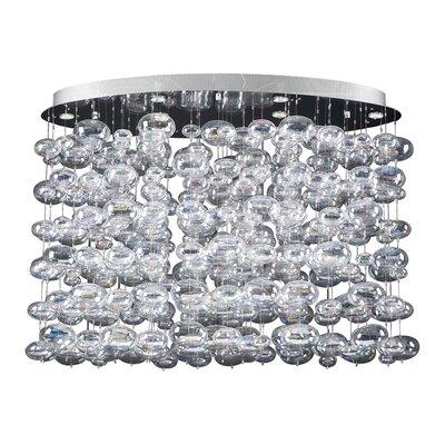Bubbles 12-Light Cascade Pendant Size: 36 H x 48 W x 24 D
