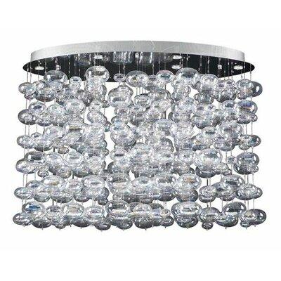 Bubbles 12-Light Cascade Pendant Size: 26 H x 34 W x 20 D
