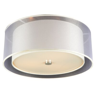 Merritt 3-Light Semi-Flush Mount Bulb Type: 60W A19