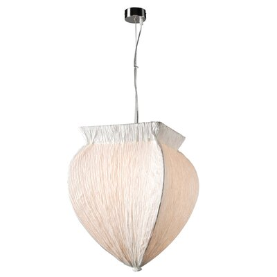 Bombay 1-Light Pendant Shade Color: White, Bulb Type: 60W A19 incandescent bulb