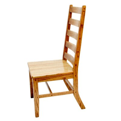 No credit financing Lumberjack Side Chair Finish: Natur...