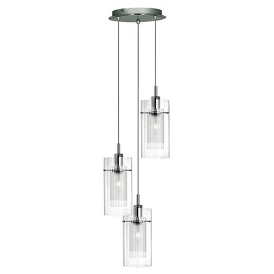 Home Essence Duo 1 3 Light Drum Pendant