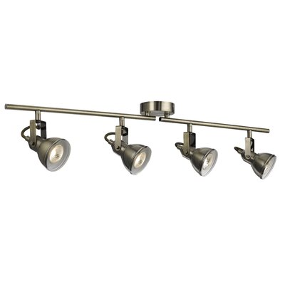 Home Essence Ottawa 4 Light Spotlight in Antique Brass