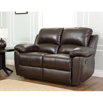 SK-1706-BRN-2 BYV3034 Abbyson Living Westwood Leather Reclining Loveseat