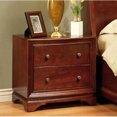 Abbyson Living Rosette 2 Drawer Nightstand