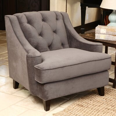 Tufted Arm Chair Color: Grey