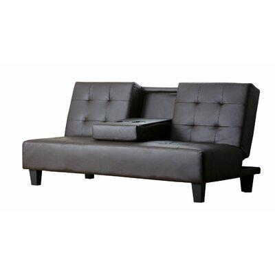 YG-L60-BRN BYV1682 Abbyson Living Bedford Upholstered Convertible Sofa
