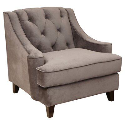 Holloway Tufted Arm Chair Color: Beige
