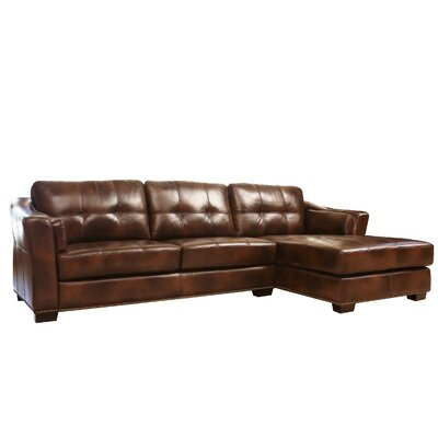 Davis Right Hand Facing Leather Sectional