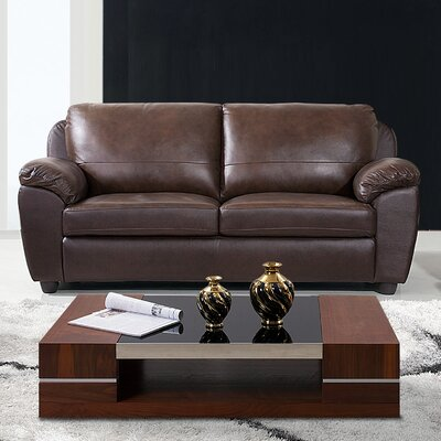 CI-1281-BRN-3 BYV3325 Abbyson Living Verano Leather Sofa