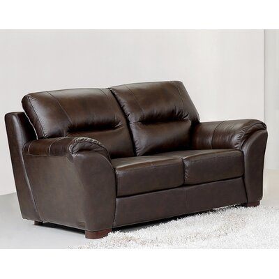 CI-1801-BRN-2 BYV3354 Abbyson Living Caprice Leather Loveseat