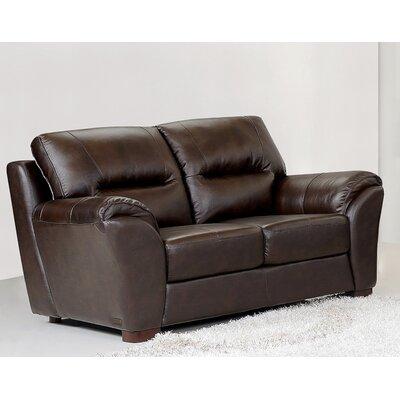 CI-1801-BRN-2 BYV3354 Abbyson Living Caprice Leather Loveseat