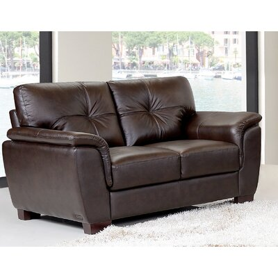 DBHC4894 27052259 DBHC4894 Darby Home Co Axtell Leather Loveseat