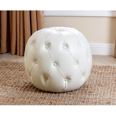 Lafond Pouf Ottoman Upholstery: Ivory